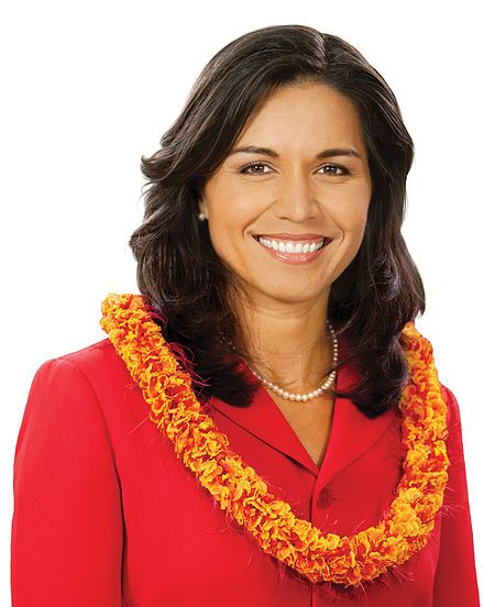 Tulsi Gabbard is an American politician and member of the Democratic Party who has been the United States Representative for Hawaii's 2nd congressional district since 2013...she is the first American Samoan and the first Hindu member of the United States Congress. She served in a combat zone in Iraq. Gabbard (then known as Tulsi Gabbard Tamayo) served in the Hawaii House of Representatives from 2002 to 2004, becoming at age 21 the youngest woman to be elected to a state legislature at the…