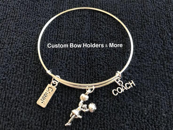 Cheer Bracelet, Cheerleader Charm Bracelet, Cheer Coach Bracelet, Cheer Gift