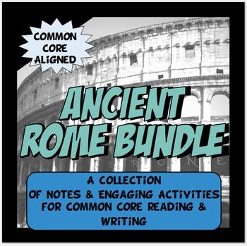 "This Ancient Rome packet has rigor,versatility and fun!  CONTENT– The content in the bundle is organized with the key ""big idea"" Common Core concepts for Social Studies in mind. The concepts covered are:  · Economy-How a civilization makes money through the buying and selling of goods and services.  · Government /Leadership-How a civilization creates an organized way of leadership.  · Social Classes-How a civilization is divided into classes that have different roles, responsibilities and…"