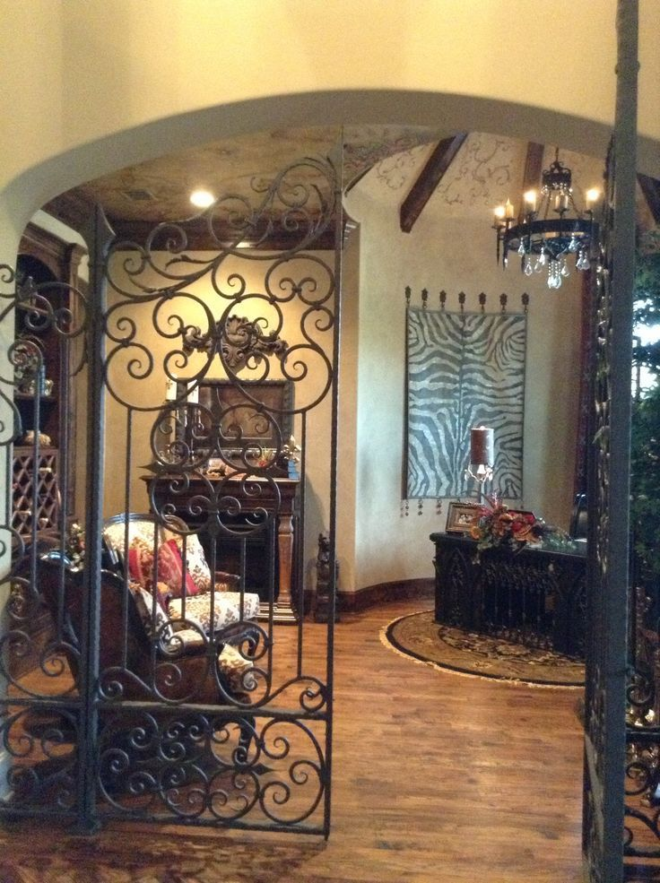 Utilized the iron gate by incorporating it into this #antique designed study. Thoughts? #DonnaMossDesigns