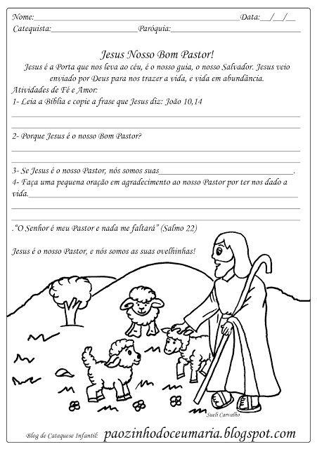 Pãozinho do Céu: Jesus o Bom Pastor - Atividades para Catequese