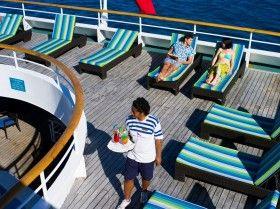 Relaxing onboard the MV Reef Endeavour Fiji