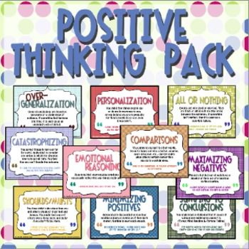 This activity pack features 10 common cognitive distortions people commonly experience. Great for middle and high school! #CBT