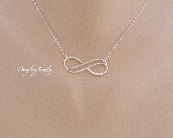 Double Infinity Necklace Sister Necklace Best by DanglingJewelry, $32.00