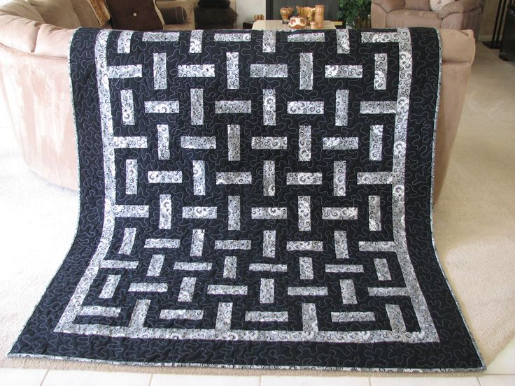 Two color quilts can be very impressive!