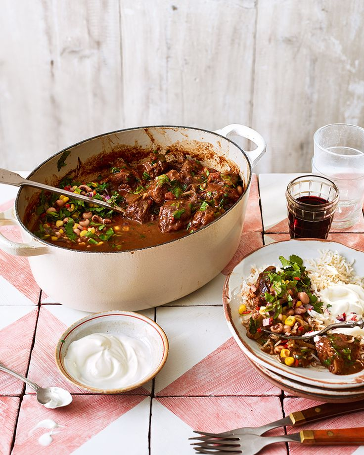 Ancho chillies, dark chocolate and paprika add wonderful Mexican flavours to this slow-cooked beef chilli. Serve it with fresh bean salsa for an impressive one-pot dish.