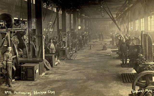 BHP Portion of Machine Shop, Newcastle, NSW, Australia [n.d.] by Cultural Collections, University of Newcastle