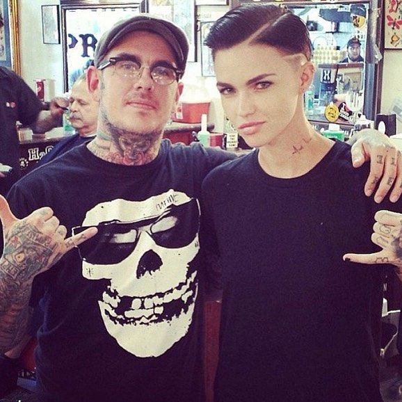 """Who else is jealous of #GO247 Sr. Artistic Director, Dylan Johnson, (@kid_ridiculous) for getting to cut & style the beautiful & talented @rubyrose?  #barberlife"" Photo taken by @go247 on Instagram, pinned via the InstaPin iOS App! http://www.instapinapp.com (07/02/2015)"