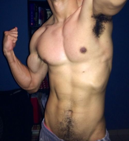 Sexy muscle worship boy toy in training 4