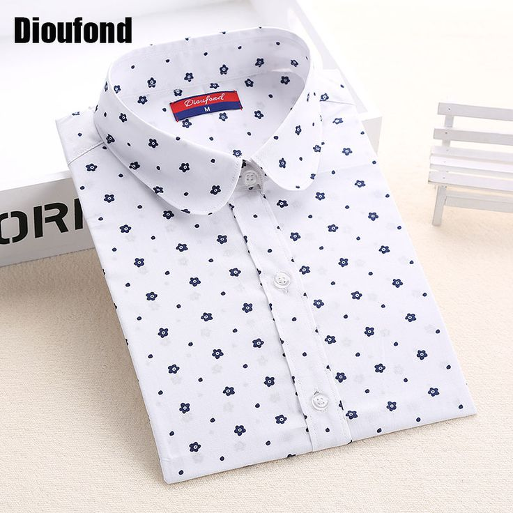 Blouses Shirts  Dioufond Floral Women Blouses Polka Dot  Blouse Long Sleeve Shirt Women Cotton Camisas Femininas Blusa Feminina Ladies Tops -- Find out more on AliExpress website by clicking the VISIT button