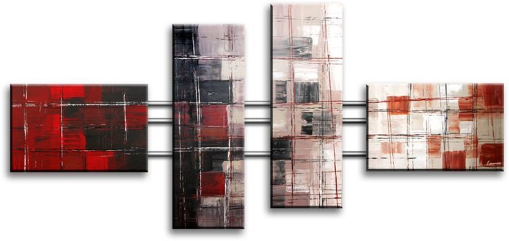 Heel modern en abstract geschilderd