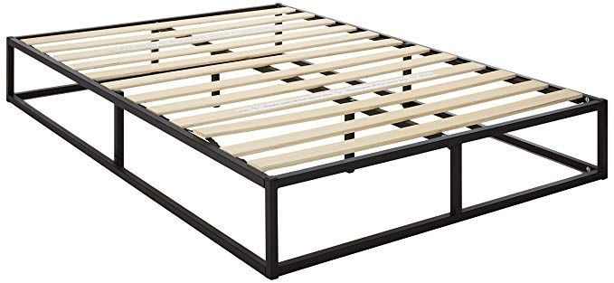 Zinus Modern Studio 10 Inch Platforma Low Profile Bed Frame Mattress Foundation Boxspring Opti Low Profile Bed Frame Small Double Bed Frames Double Bed Frame