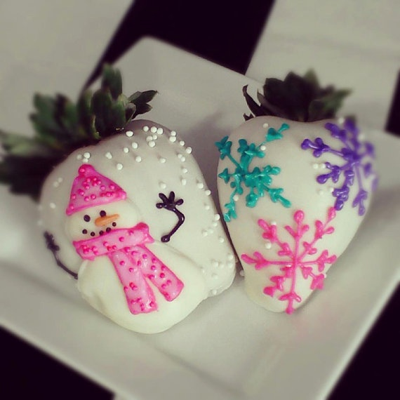 Custom chocolate covered strawberries by Drawberries on Etsy, $39.99