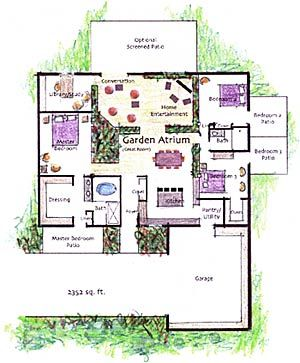 The Garden Atriums Home: The Plans | New house plans, How ...