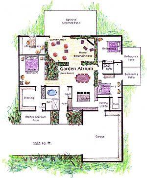 17 Best Images About House Plans Atrium House On