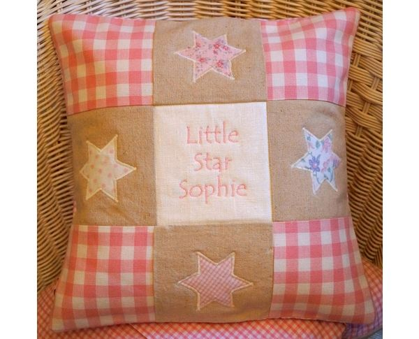 Little Star Cushion in Pink