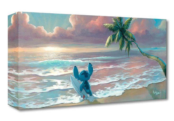 Lilo and Stitch - Waiting for Waves - Gallery Wrapped - Rob Kaz - World-Wide-Art.com - #disneyfineart #robkaz #disneytreasuresoncanvas #gallerywrapped #liloandstitch