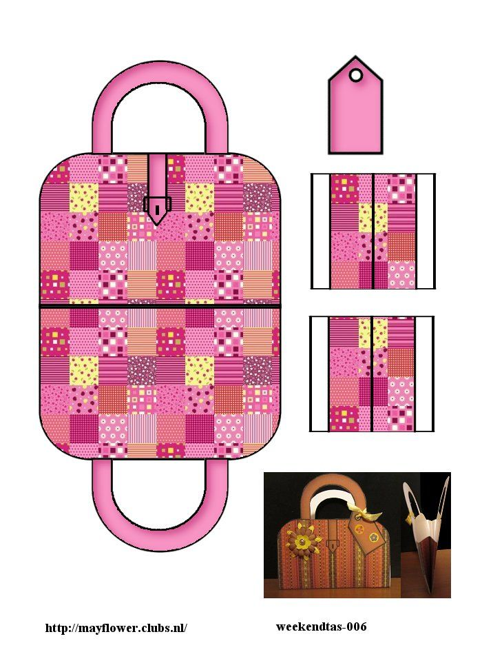 Printable Pink Quilted Suitcase