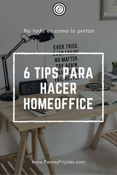 6 tips para hacer homeoffice Viral Marketing, Business Marketing, Business Tips, Digital Marketing, Start Ups, Managing Your Money, Working Area, Human Resources, Blogging For Beginners