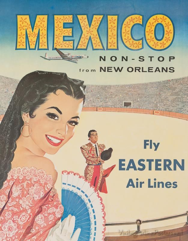 MEXICO Vintage travel poster