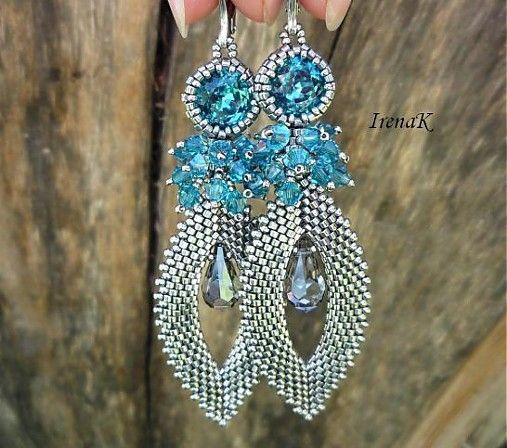 Nice pair of Beaded Crystal Earrings!