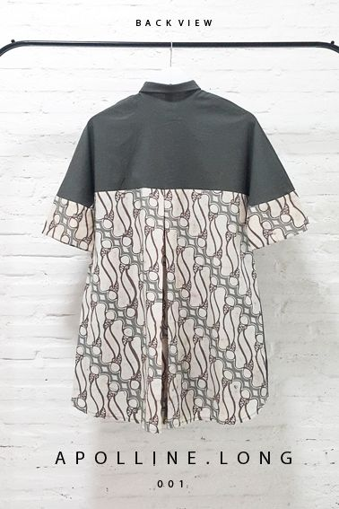 Apolline Long 001 IDR 695.000 Contemporary Batik Parang Fusion Formal Buttoned Dress  Length of Dress:  approx. 90 cm  Material used : Batik Parang, Cap Kombinasi Tulis, Cotton / Premium Cotton Stretch  Free Size (Bust up to 94cm)