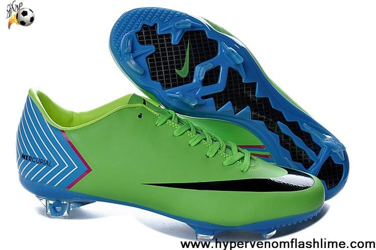 Buy 2013 New Nike Mercurial Vapor X FG Green Black Soccer Boots For Sale