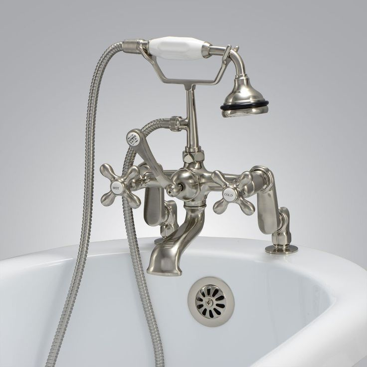 randolph morris deck mount clawfoot tub faucet with handshower