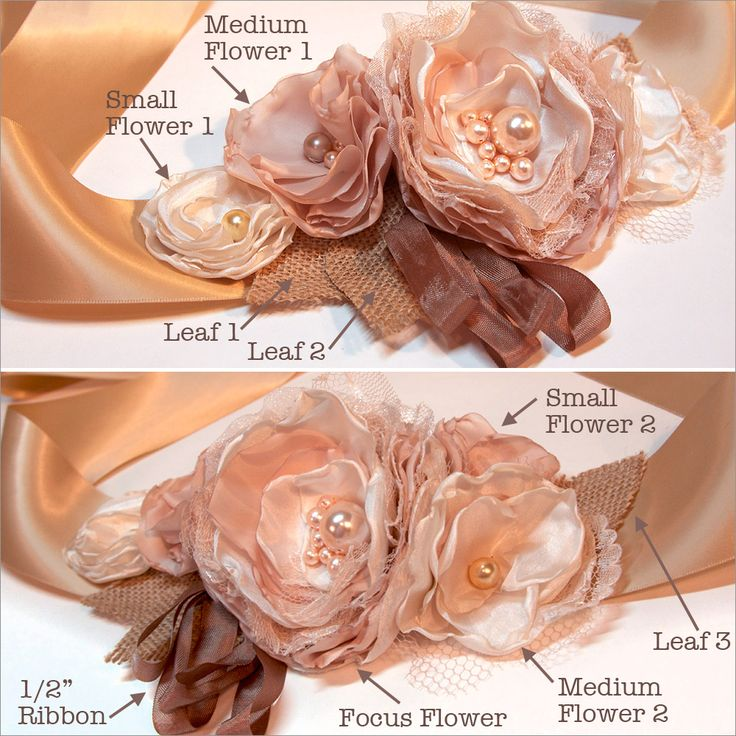 A Rustic Wedding with Fabric.com: Floral Wedding Gown Sash | Sew4Home