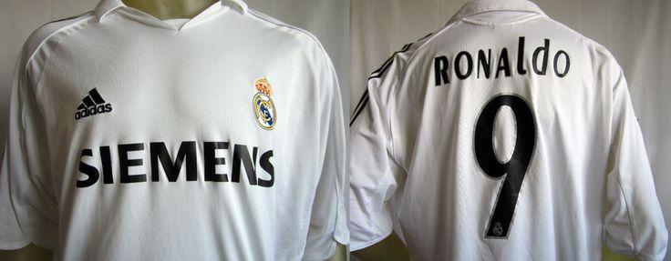 Ronaldo 9 Real Madrid White ClimaCool Adidas Uniform Shirt Size XXL