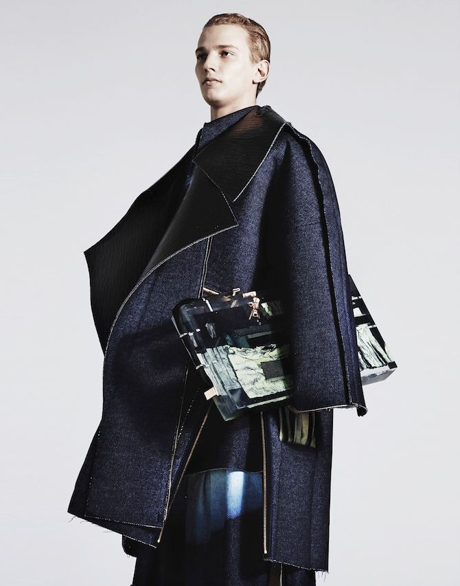 Ximon Lee, A/W 2015 Fabriction and exposed seam allowances.     WGSN