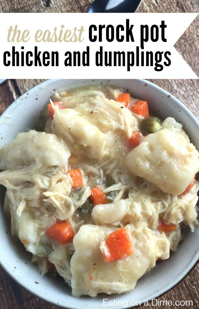 amazing crock pot chicken and dumplings