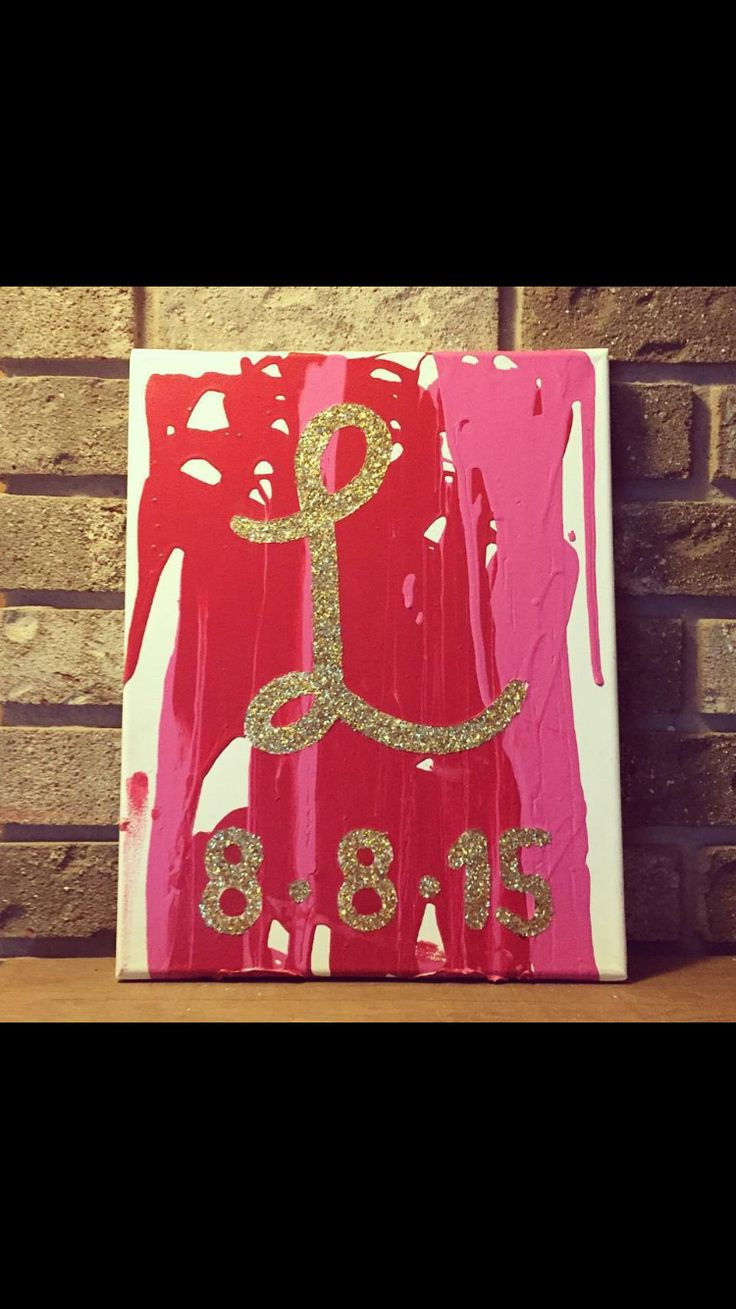 Instead of a unity candle ceremony a unity paint canvas is a great