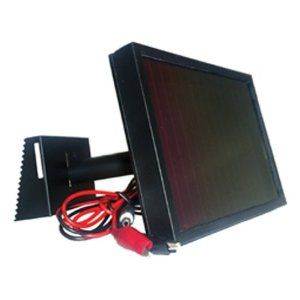 12 Volt solar panel with aluminum mounting kit.