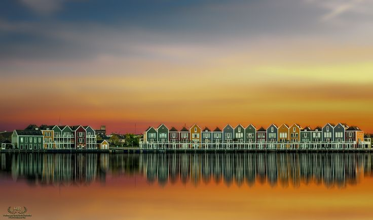 Reflections of Houten - Beautiful Dutch architecture during sunset on a calm evening earlier this month.......