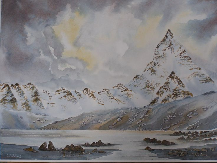 Crib Goch  water colour by Colin Walters 594mm x 420mm