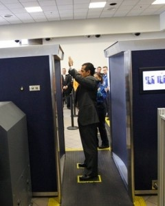 Laser Molecular Scanner ~ If the TSA's full body scanners already make you nervous, you may want to cancel your travel plans: A new kind of body scanner, which could be in airports within a year or two, uses a laser to gain nitty gritty details about passengers.