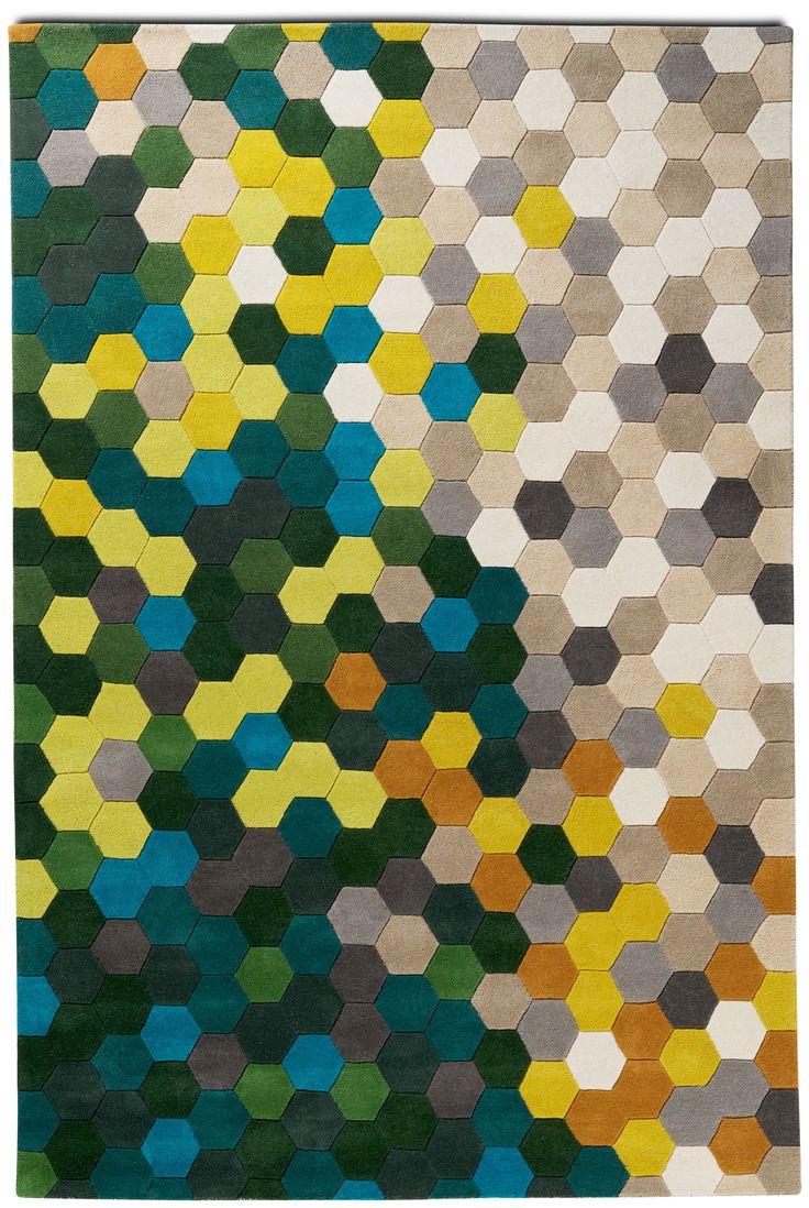 883 best hexagons honeycombs images on pinterest bees for Modern carpet design