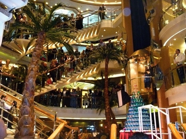 Foyer Stairs Reviews : Internal stairs and foyer area of sea princess cruise ship