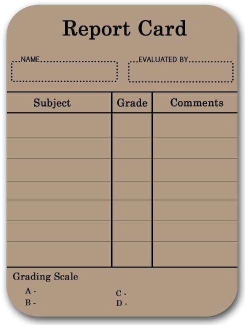 free report card template 17 best images about report cards on behavior 21890