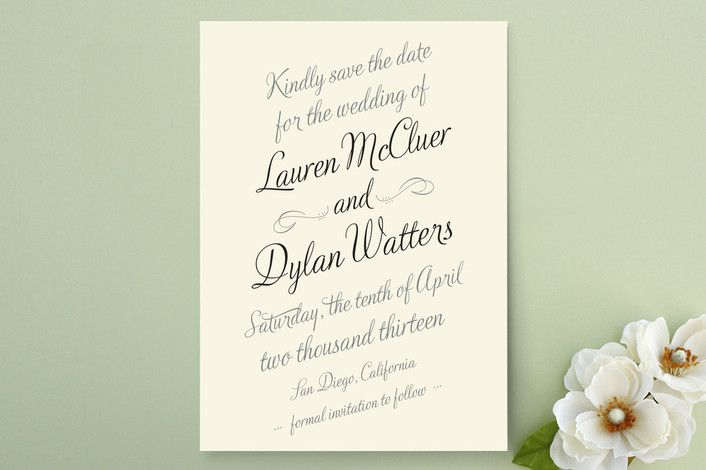 classic save the date from Minted