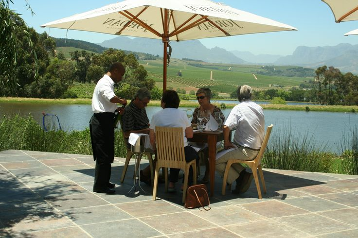 Beautiful views form the restaurant, over looking the Stellenbosch Kloof Valley