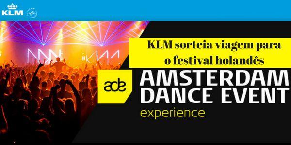 KLM Sorteia Viagem Para Festival Holandês Amsterdam Dance Event - Mega Roteiros. Dicas dos melhores destinos do mundo AKLM, por meio de sua revista de viagens digitaliFly, promove sorteio* de um pacote completo de viagem, incluindo acompanhante, para curtir oAmsterdam Dance Event (ADE), o maior festival de música eletrônica do mundo. A experiência na capital holandesa oferecerá espaço para curtir os melhores...  Leia mais em: http://megaroteiros.com.br/klm-sort