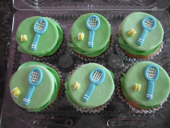 Fondant Tennis Cupcake Toppers 14 00 Via Etsy