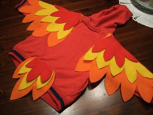 owl costume feather shape templates  this is a parrot but could do same for owl.....