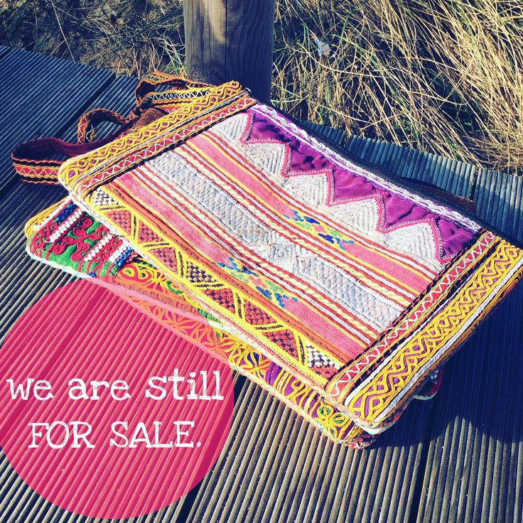 Still for sale, this lovely banjara bags, handmade with real vintage afghan embroider. Take a look on the different designs available and choose your favorite. All the pieces are unique!