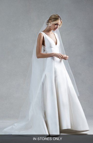 Oscar de la Renta Hope V-Neck Silk Mikado Trumpet Gown (In Stores Only) available at #Nordstrom