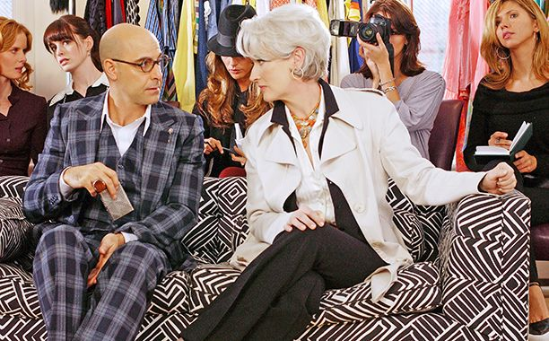 Sadly, it seems like we'll need a little more than Crisco and some fishing wire to make a Devil Wears Prada sequel happen — according to star Stanley Tucci, that is. Receiving a career tribut…