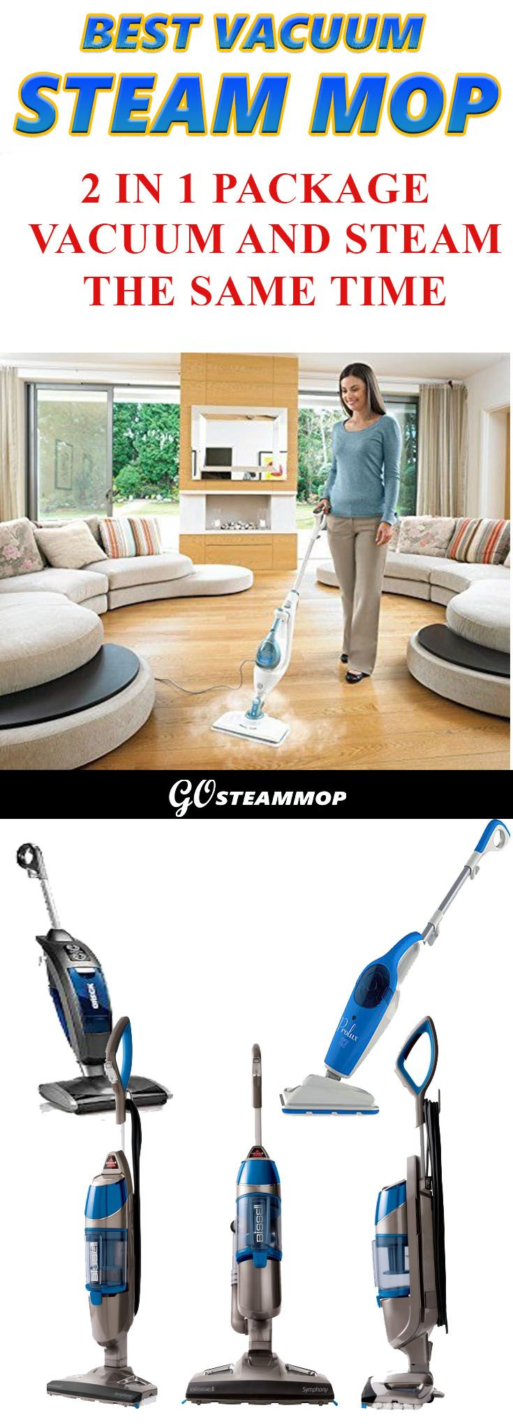 Best steam mop vacuum 2 in 1 package tool steam and vacuum at the same time revolutionize your cleaning