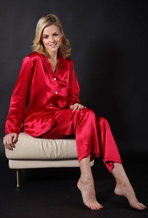 Silk Nightwear - Silk Pyjamas Cherry